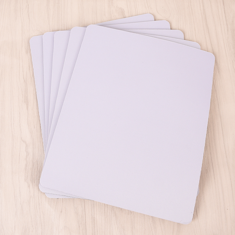 White Mouse Pad Fabric Gaming Mouse Mat Pad 3mm Thick Non Slip Foam High Quality 260*210*3mm