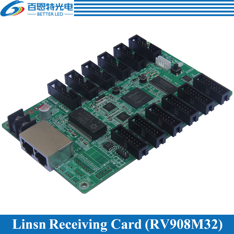 Linsn RV908(RV908M32) LED Display control system Receiving Card Support Static, 1/2, 1/4, 1/8, 1/16, 1/32 Scan, Work with TS802DLinsn RV908(RV908M32) LED Display control system Receiving Card Support Static, 1/2, 1/4, 1/8, 1/16, 1/32 Scan, Work with TS802D