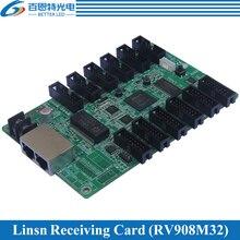 Sistema de controle de display led linsn rv908, 1/2, 1/4, 1/8, 1/16, 1/32 varredura, trabalho com ts802d