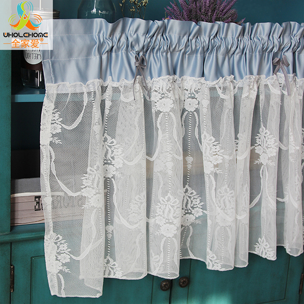 French Lace Curtains French Style Kitchen Curtain Fashion Cafe Cotton Lace Pastoral