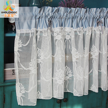 French Style Kitchen Curtain Fashion Cafe Cotton Lace Past Small For The Home Decoration 1 Pcs