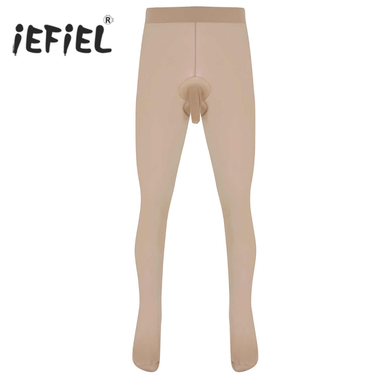 2fa36e6247e iEFiEL Sexy Night Party Clubwear Mens Skinny Stretchy Pantyhose Shapers Tights  Hosiery Seamless Lingerie Sissy Men s