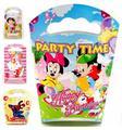 Bebés y Niños Chica Chico Niños Suministros Fiesta de Cumpleaños Juguetes Clásicos Mickey Micky Minnie Mouse Bolsas de Regalo de Papel