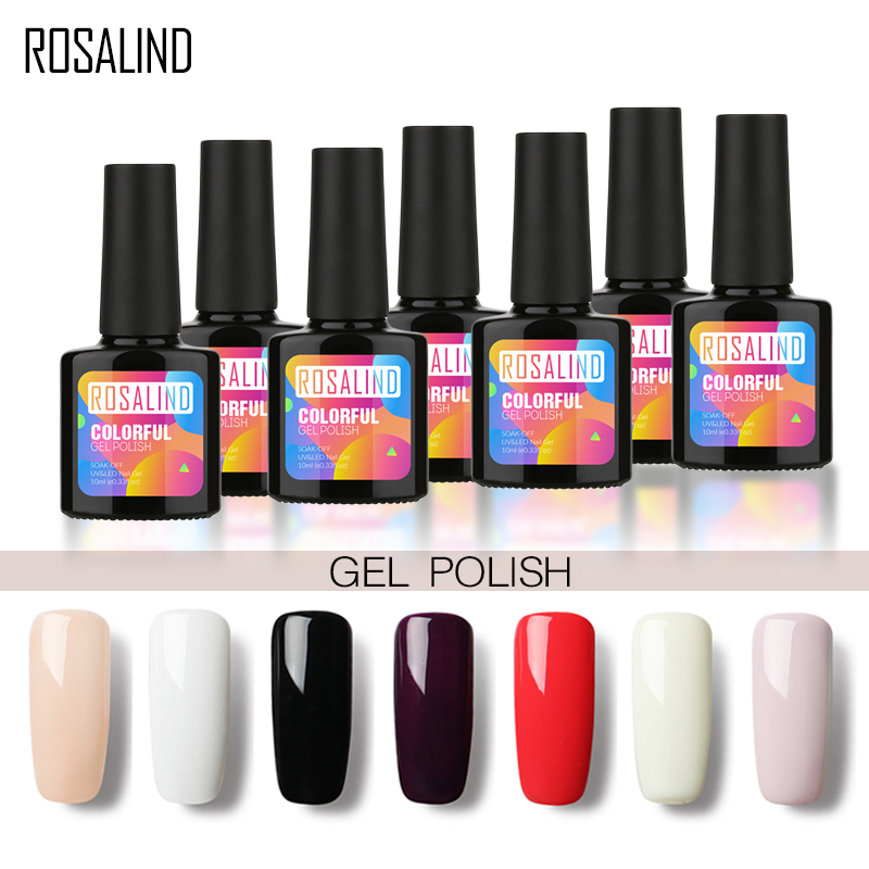 Gel Nail Polish Sale: ROSALIND P+Black Bottle 10ML HOT SALE 29 COLOR Gel Nail