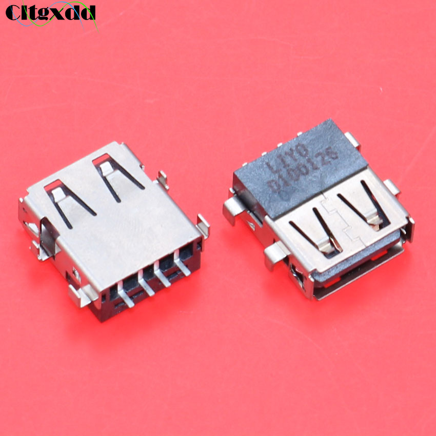 Cltgxdd 10pcs Laptop USB 2.0 Jack Female Socket Connector Suitable For Notebook Acer E1-571G 571G USB Interface Of Motherboard