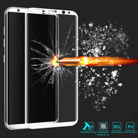 Johctor 9H 0 26MM 3D Curved Full Cover HD Tempered Glass For Samsung Galaxy S8 Screen