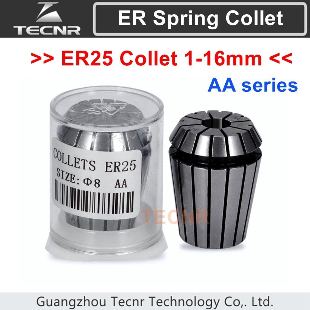 Singles Sizes ER25 Collet 1-16mm