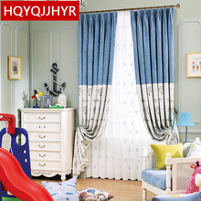 The New Custom Made Modern minimalist splicing Blackout Curtains for bedroom high-grade Cotton Linen Curtain for living room