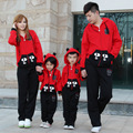 Otoño e invierno de la familia look ropa set otoño otoño e invierno niños ropa gato y grandes ojos de la madre e hijo hija fath