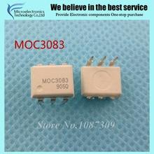 10 pcs frete grátis M0C3083 MOC3083 DIP-6 Optocouplers Saída Triac & SCR 800 VDRM = 5mA IFT 6 Pin Optocoupler original novo