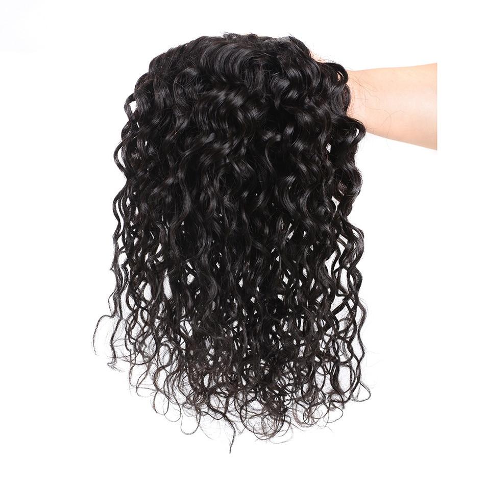 Water Wave Bundles Brazilian Hair Weave 3 Bundles 100% Human Hair - Menneskehår (sort)