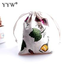 YYW 2017 Jewelry Bags Pouches Cotton Fabric Bags Christmas Gift Bags Candy Jewelry Packaging Organza Bags & Pouches