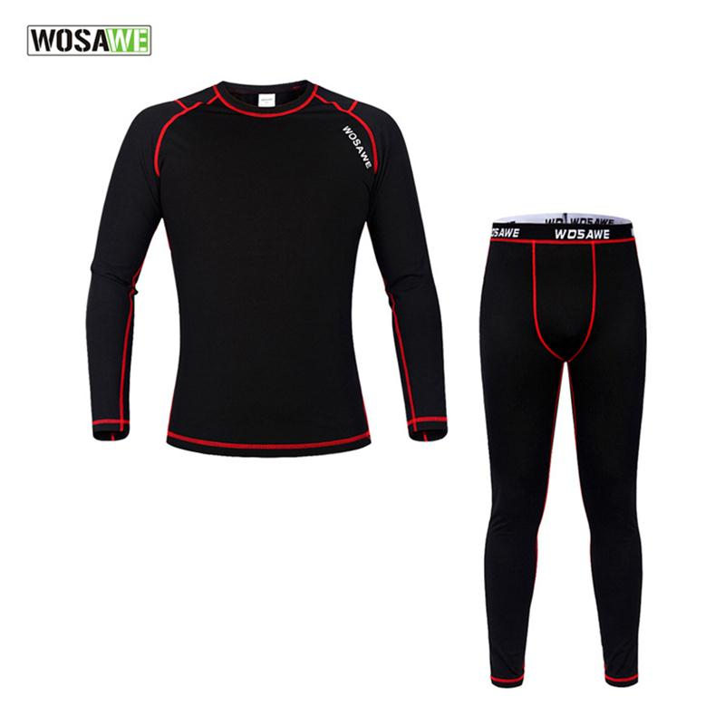 W0SAWE Mens Thermal Fleece Quick dry Base Layer Under Wear Cycling Bike Long Sleeve Jersey Tight Winter Sports clothing Shirt