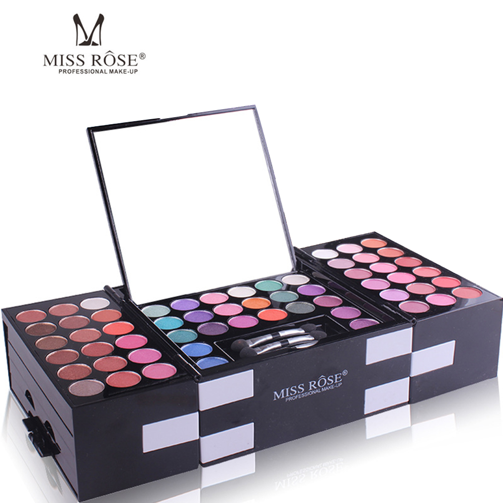 Miss Rose 144 Colors Matte Glitter Eyeshadow Palette Set Powder Cosmetics Maquiagem Eye Shadow Pallet Kit Pro Make Up For Eyes 144 colors matte eyeshadow palette earth color eye shadow pressed powder natural face blush blusher palette eyebrow powder kits