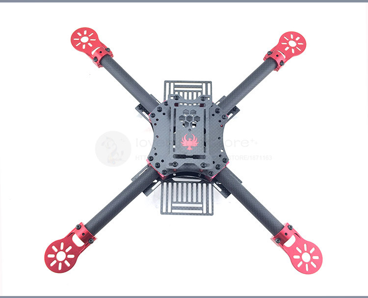 DIY FPV GF400 quadcopter drone fixed pure carbon fiber frame unassembled цена