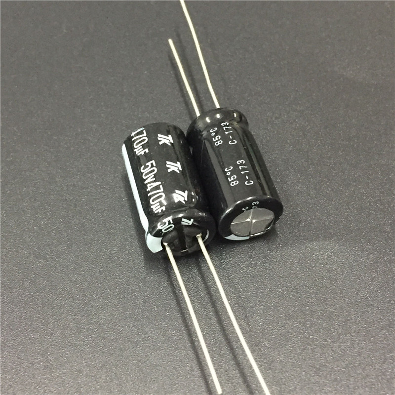 10pcs 470uF 50V JAPAN TK 10x20mm 50V470uF Good Quality Aluminum Electrolytic Capacitor