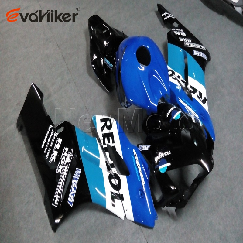Пользовательские ABS мотоцикл обтекатель для CBR1000RR 2004 2005 мотор панели + 5 подарки черный литья под давлением H2 - 2