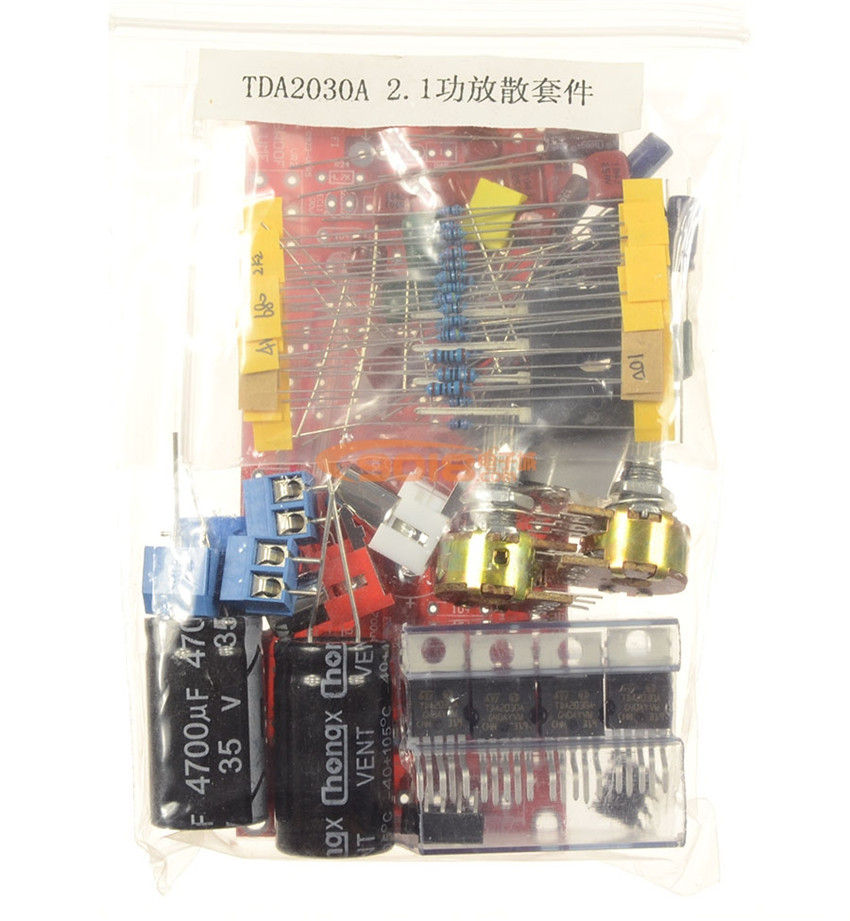 TDA2030A +NE5532 2.1 triple-track subwoofer amplifier plate parts/DIY kits with former level low pass