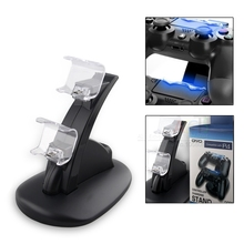 For Dualshock 4 New Arrival OIVO Dual USB Charge Dock Stand for Sony Playstation PS4 Joysticker Wireless Controller PS4 Charger