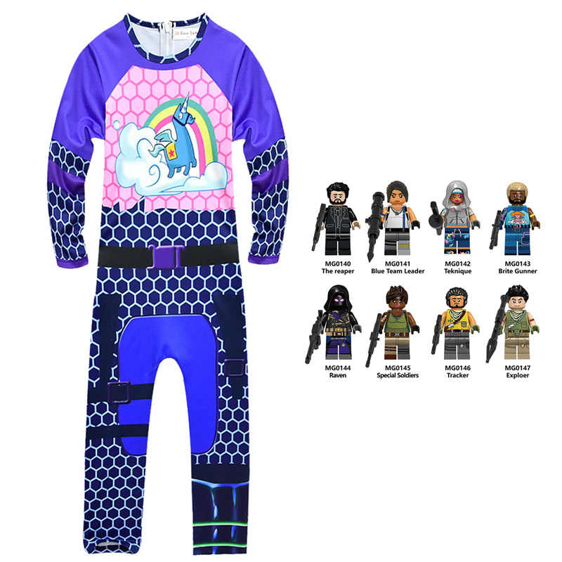 762a04d3 2019 Raven Boys Clothes & toy fortnight Costumes Kids Funny Halloween  Cosplay Outfits Exploer Battle Royale party Clothing 6-14T