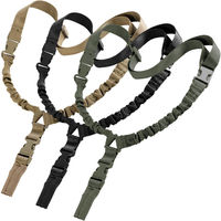 1000D Heavy Duty Tactical One 1 Single Point Sling Adjustable Bungee Rifle Gun Sling Strap For