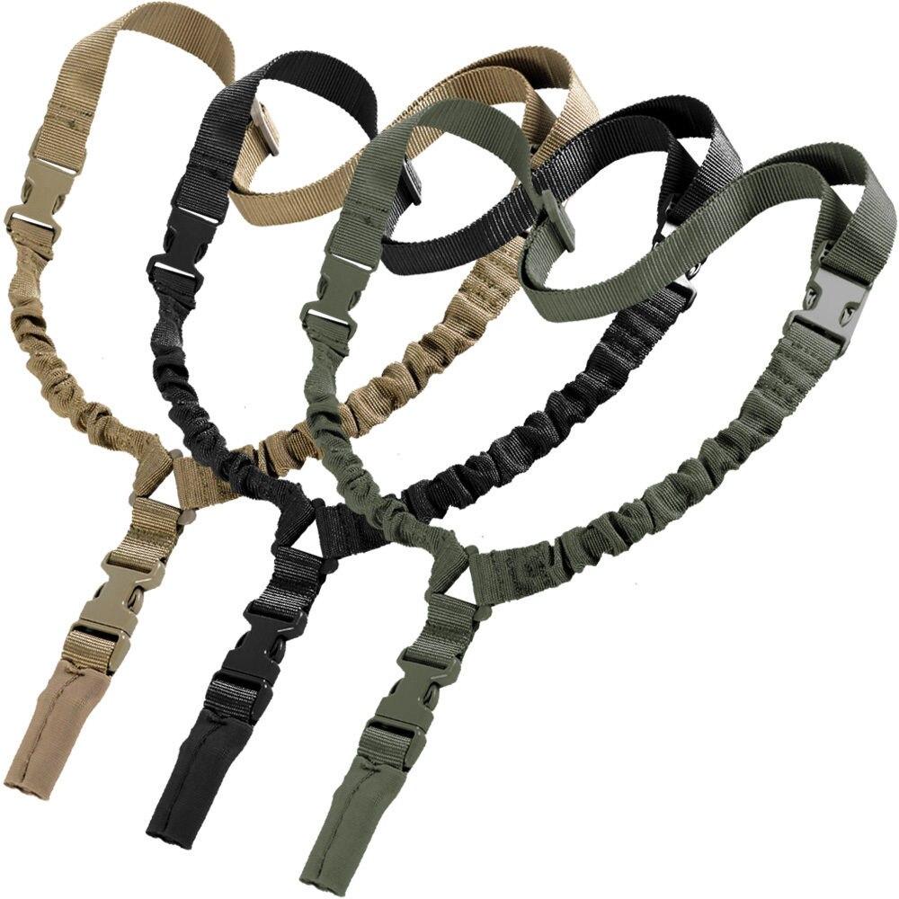 1000D pesado deber táctico 1 punto Sling Bungee ajustable pistola Rifle Sling Correa militar Airsoft caza 3 colores