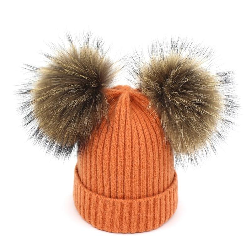 Lanxxy Real Mink Fur Pompom Cap Կանանց ձմեռային - Հագուստի պարագաներ - Լուսանկար 6