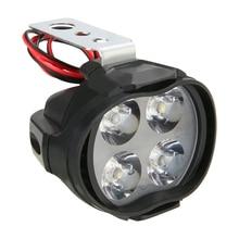 Mayitr 1pc 12W Waterproof  Universal LED Motorcycle E-bike Headlight Driving Spot Fog Light White Head