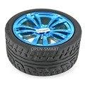 4 ШТ. Носимых Резиновые Колеса для TT Двигателя 65*27 мм Резиновые колесо Плотно Подходят с шагового двигателя для Arduino Умный Автомобиль Красивый синий