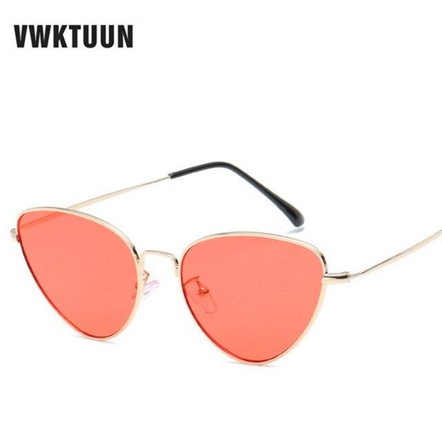 0a8126f35d4a VWKTUUN Sunglasses Women Vintage Cat Eye Womens Sunglasses Small Shades Sun  glasses For Lady Metal lunette de soleil Femme