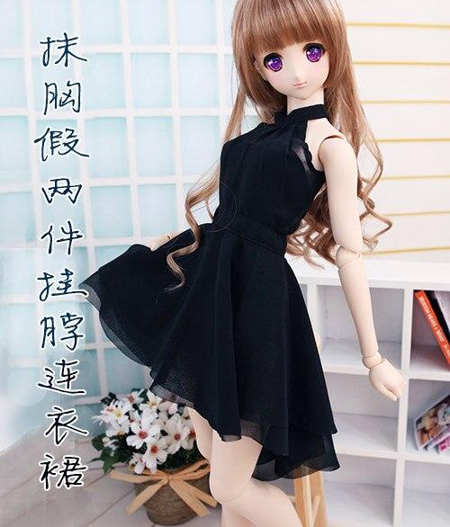 Fashion  black /white dress  For BJD 1/3 SD16 DD DY Doll Clothes Accessories 1 3 bjd doll dd dddy kirakira stiletto sandals rose gold sd16 sd10 sd13 dd