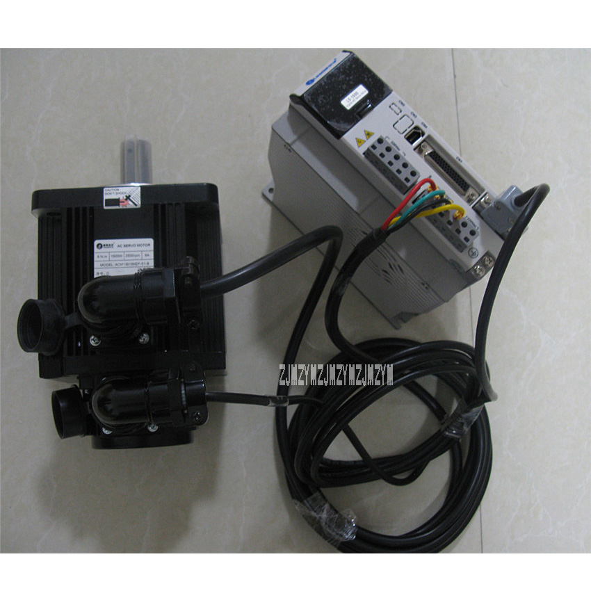 New Arrival 1500W AC Servo Drive L5-1500 AC Power Servo Motor ACM13015M2F-51-B Three-Phases 2500RPM Servo Motor 6NM Hot Sale leadshine 200w brushless ac servo drive and motor kit acs806 acm602v60 2500 new