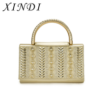 High quality small Shoulder bag women flag Diamonds crystal Appliques gold ladies luxury handbags cover Valentines crossbody bag(China)