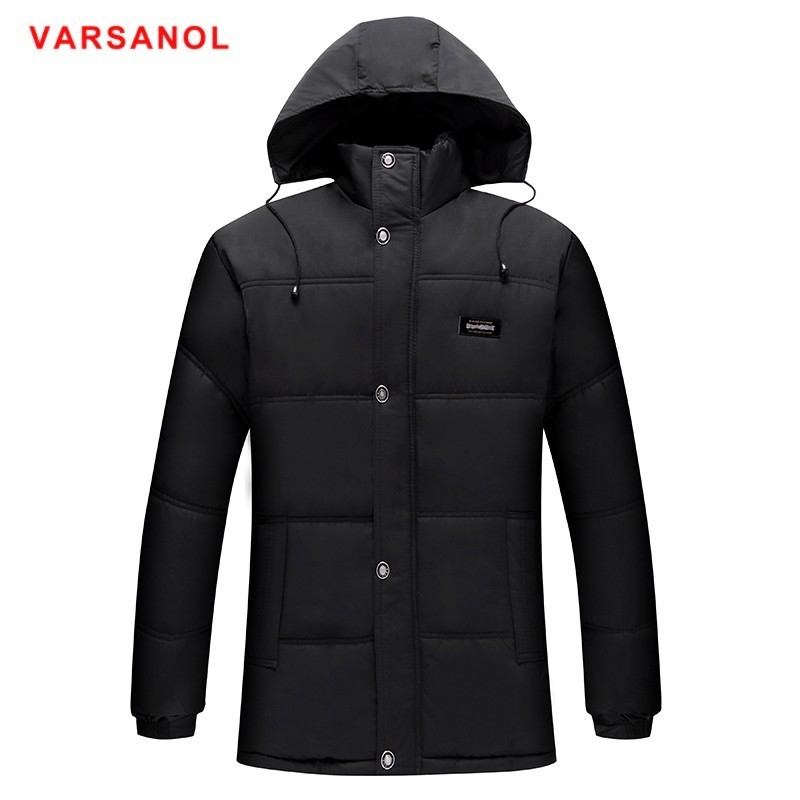 Varsanol Winter Jackets And Coats 2018   Parkas   For Men Cotton Coat Mens   Parka   Jacket Hooded Warm Long Jackets Loose Tops Newest