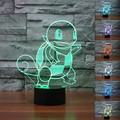 Hot Style Squirtle Pokemon Go Game Collection Figura Brinquedos Kawaii 3D Night Light 7 Alterar Cores LED Brinquedos Os Melhores Presentes para As Crianças