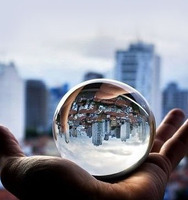 60mm diameter transparent acrylic crystal ball for christmas gift home decorative globe sphere
