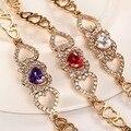 Изысканный ААА белый в форме сердца CZ Бриллиантовый браслет Моды медным покрытием золото браслет женский ювелирные изделия