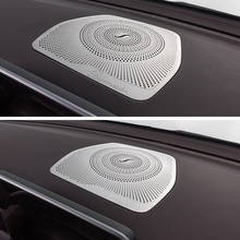Dashboard Loudspeaker Cover Stickers Trim Accessories LHD For Mercedes Benz W205 GLC C Class C180 C200 Car styling Audio Speaker for mercedes benz c class w205 c180 c200 c260 glc 2015 2016 screen cover trim car interior accessory