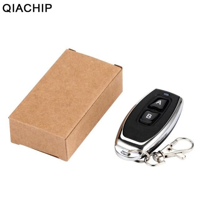 QIACHIP 433 MHz RF uzaktan kumanda öğrenme kodu 1527 EV1527 kapı için garaj kapısı denetleyicisi Alarm anahtar 433mhz dahil pil