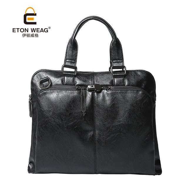 Korean business bag handbag briefcase Satchel Bag fashion Leather bag Men s  casual bags male tote purse dac789aac20ef