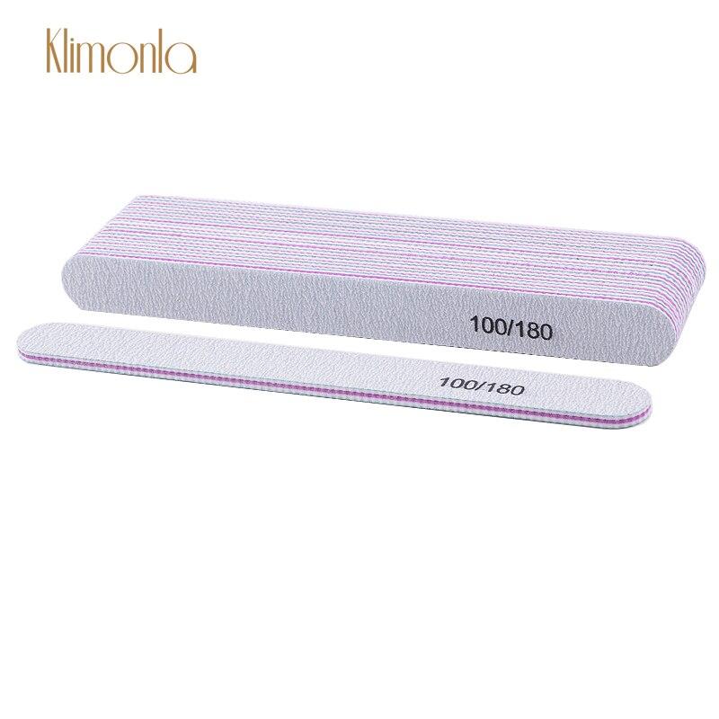 5 шт., профессиональные пилки для ногтей, 100/180 см