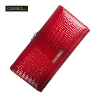 Wallet Women Long Style Cowhide Purse Wholesale And Retail Genuine Leather Wallet Fashion Design Multifunctional Elegant
