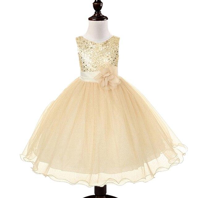 Aliexpress buy 2015 new flower girls dress tutu princess gold 2015 new flower girls dress tutu princess gold white girl shining dress baby casual paty dress mightylinksfo