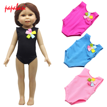 1Pcs New Products Direct Factory Sale Price 18 inch American Girl Doll Pink Red Black Swimwear