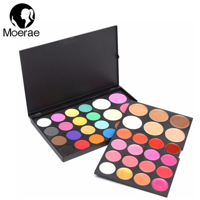 Profesional 44 Colores de Maquillaje Paleta de Pigmentos de Sombra de ojos del Blusher Cara Corrector Blush Bronzer de Cosméticos Herramientas de Maquillaje Natural