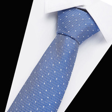 Men TIE Black Blu Polka Dot  Fashion Classical 7.5cm Slim Skinny Polyester Ties Narrow Silk Groom Wedding Party Business Necktie fashion slim tie narrow necktie black