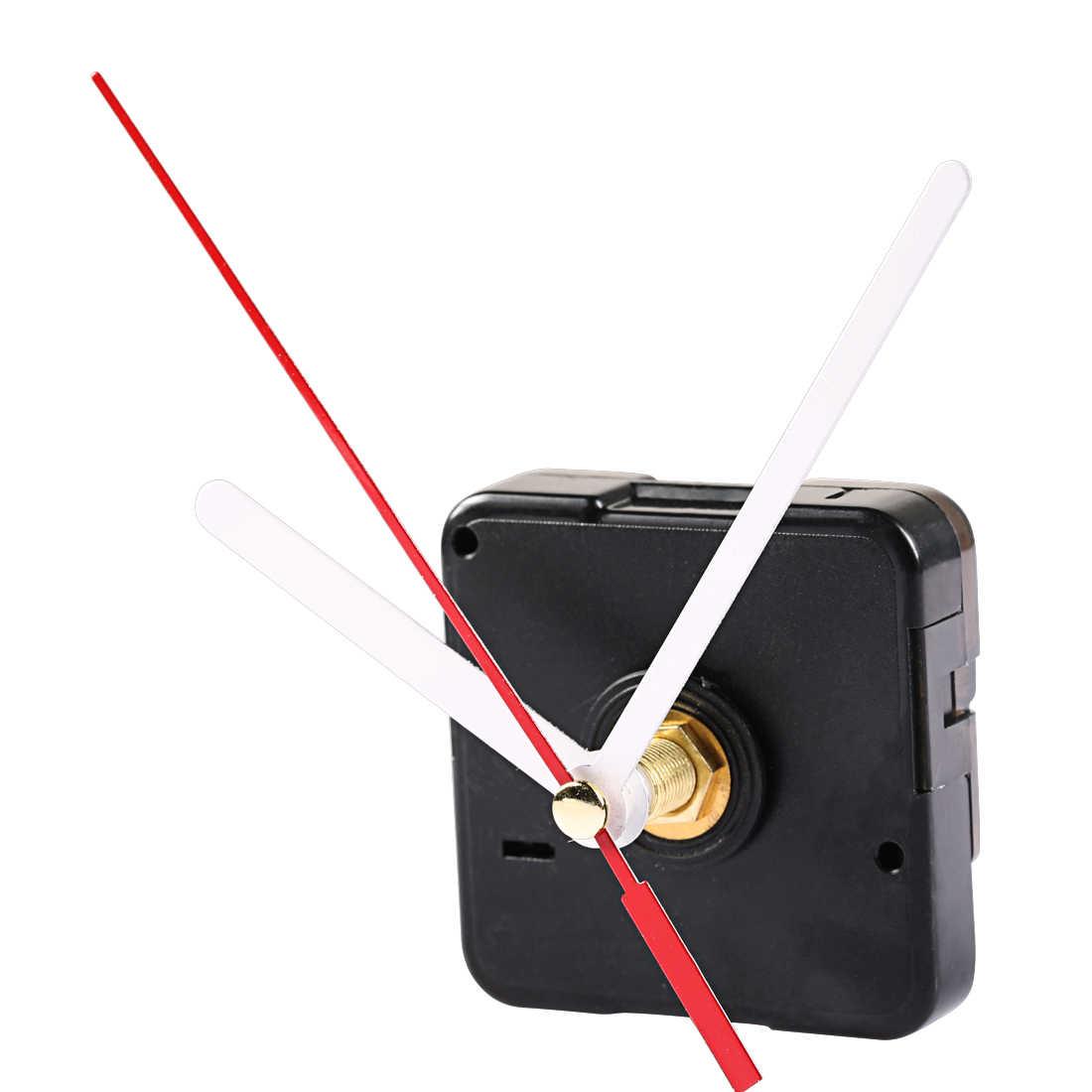 Duvar saati hareketi mekanizması parçaları onarım yedek temel araçları diy saat mekanizması asılı siyah quartz saat