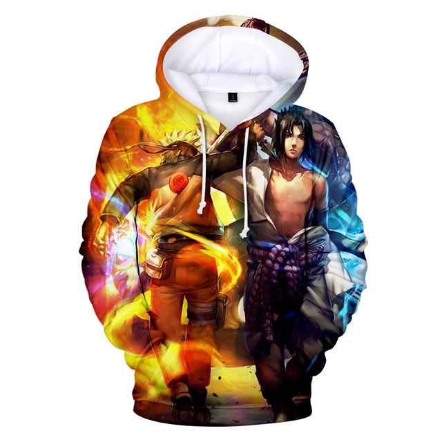 NEW Naruto Hoodie Coat Puiiover Sweatshirts Kakashi Sasuke 3D Hoodies  Pullovers Men Women Long Sleeve Outerwear Hoodie G e3e76923c