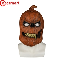 купить Cosermart Latex Mask Pumpkin Full Head Cosplay Funny Dressed Halloween Party Prop Masks Adult Masquerade по цене 1232.34 рублей