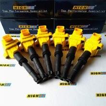 IGNITION COIL FIT PORSCHE 911 CAYMAN BOXSTER 2.5L 2.7L 3.2L 3.4L 3.6L 3.8L 1997-2012 99760210400 99760210700 0986221016 6pcs H6